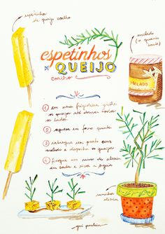 Beautiful illustrated recipes by Gui Poulain