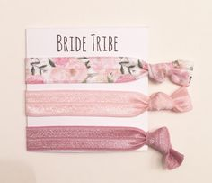 A personal favorite from my Etsy shop https://www.etsy.com/listing/265535458/bridesmaid-hair-tie-favorselastic-hair