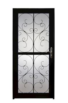 $94.00 / Each EMCO 75 Series 36 In. Black Self Storing Storm Door E75SS 36BZ  At The Home Depot 36 In W   Replace Screen Door On Side Of Old House ...