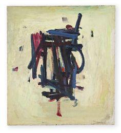 Maria Lassnig, Balken (Beams), 1950