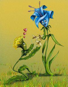 """""""Être fleur bleue"""" = Être sentimental.  Par extension, être naïf (FB: Français pour tous)."""