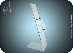 Expositor de panfletos em acrílico cristal.  Flyers exhibitor in crystal acrylic.
