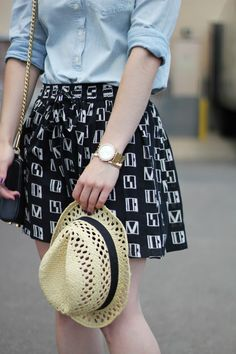 Madewell Skirt + Smart Set Hat