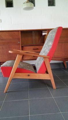 1 de 2 rétro vintage danois Hêtre Bureau Côté Bureau Chaises Fauteuil 60 s 70 s Oak
