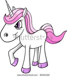 Mad crazy angry Unicorn Pony horse Vector Illustration