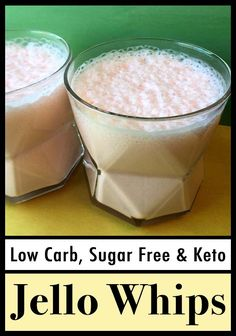 This is a popular recipe for low carb Sugar-Free Jello yogurt whips. It's a quick and easy dessert or snack with only 35 calories and net carbs per serving. Sugar Free Desserts, Low Carb Desserts, Low Carb Recipes, Diet Recipes, Sugar Free Jello Keto, Low Sugar Snacks, Diabetes Recipes, Healthy Recipes, Sweets
