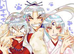 Rin And Sesshomaru, Inuyasha Funny, Inuyasha Fan Art, Inuyasha And Sesshomaru, Anime One, I Love Anime, Anime Guys, Manga Anime, Pokemon Comic Book