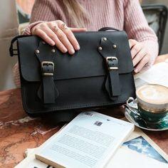 Tan Brown Leather Messenger Bag Handmade Women's Cross | Etsy Black Leather Messenger Bag, Black Crossbody, Leather Shoulder Bag, Crossbody Bag, Leather Briefcase, Leather Bags Handmade, Leather Pieces, Everyday Bag, Gifts For Mum