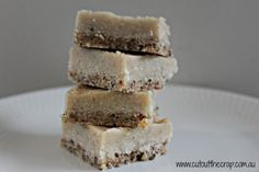 slice of coconut heaven. Need to buy chia seeds to make this.