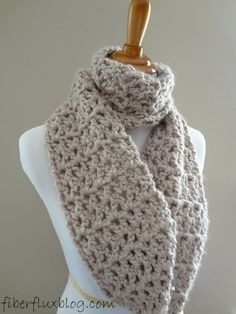 Comes with video! Fiber Flux...Adventures in Stitching: Free Crochet Pattern...Pavement Infinity Scarf!