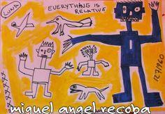 obra de miguel angel recoba  técnica mixta
