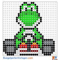 Bügelperlen Vorlagen von Mario Kart zum Herunterladen und Ausdrucken