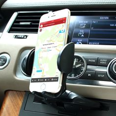 Car Mount, Patekfly Universal 360 Cellphone Car Mount Cradle Holder for Iphone 6 Plus 6 5 4 Samsung Galaxy S6 Edge/s6 S5 S4 S3 Note Nexus Lg Nokia Moto Oneplus HTC Etc and Larger Devices. Cd slot car mount,directly into CD player which don't affect CD device play. Perfect place which will not obscure your vision .Perfect for optimal accessibility and traffic hands-free law compliance. Gear and Button design for Phone holder,install or take off the phone easily by one pressing,Grip phone...