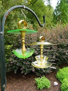 Past Lives glassware bird feeders using Eternal Tools Diamond Core Drills