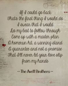 If it's the Beaches - The Avett Brothers
