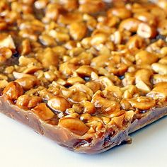 Honey Cashew Cookie Bars ~ chock full of crunchy cashews in decadent, chewy honey caramel on a brown sugar shortbread base all drizzled in chocolate! Rock Recipes, Candy Recipes, Sweet Recipes, Holiday Recipes, Cookie Recipes, Dessert Recipes, Bar Recipes, Brownie Desserts, Sweets
