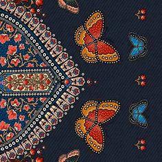 Estampa bailando   FARM Textures Patterns, Print Patterns, Floral Patterns, Pattern Ideas, Indian Flowers, Butterflies Flying, Lace Print, Butterfly Wallpaper, New Theme