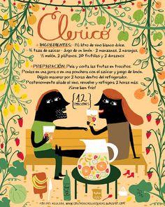 Cositas Ricas Ilustradas por Pati Aguilera Hip Hip, Chilean Recipes, Chilean Food, Cocktail Illustration, Bar Mix, Ideas Para Fiestas, Infused Water, Food Illustrations, People Illustration