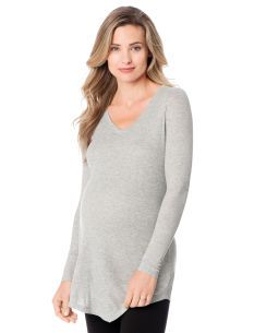 A Pea in the Pod Long Sleeve V-neck A-line Maternity Tunic