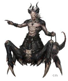 images for anime fantasy Fantasy Demon, Fantasy Beasts, Fantasy Races, Fantasy Monster, Monster Art, Dark Fantasy Art, Anime Fantasy, Fantasy Artwork, Fantasy Creatures