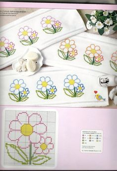 Here you can look and cross-stitch your own flowers. Cross Stitch Bookmarks, Mini Cross Stitch, Cross Stitch Cards, Cross Stitch Borders, Cross Stitch Flowers, Counted Cross Stitch Patterns, Cross Stitch Designs, Cross Stitching, Cross Stitch Embroidery