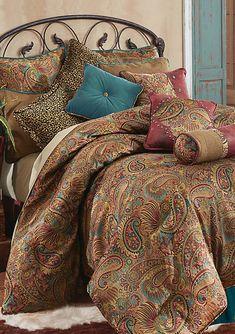 HiEnd Accents San Angelo Multicolor Super Queen Four Piece Comforter Set Sq Tl