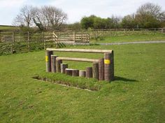 Cross Country Fence at Dean Riding Stables  http://www.deanridingstables.co.uk/pictures/facilities/facilities4.jpg
