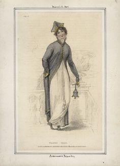 Ackerman's Repository, March 1809, Walking Dress
