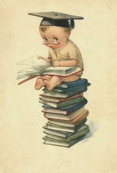 Vintage Girls, Vintage Children, Vintage Art, Vintage Ephemera, Vintage Greeting Cards, Children's Book Illustration, Art For Kids, Baby Scrapbook, Scrapbook Paper Crafts