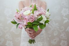 Soft pink and white bridal bouquet posy