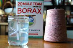 Borax crystal snowflakes! So cute, 2 ingredients, kid friendly!