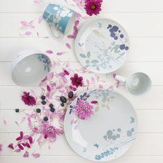 Meadow 4pc Mug Set The Meadow mug set has an enchanting pattern in pretty colours #pretty #enchanting