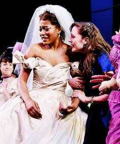 """""""Keke Palmer and Laura Osnes take a curtain call during the final performance of Broadway's Rodgers + Hammerstein's Cinderella"""" Rodgers And Hammerstein's Cinderella, Cinderella Broadway, Broadway Theatre, Broadway Shows, Laura Osnes, The Last Ship, Curtain Call, Music Theater, Keke Palmer"""