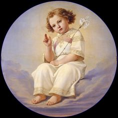 Hübner, Julius - The Christ child sitting on clouds | da ros_with_a_prince