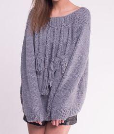 Fringe Sweater - VLOKA_HANDMADE - Kardigany
