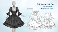 """Visuel (La robe lolita) du DVD """"Les secrets du patronage avec Zouzou"""" (modepourlol.com)"""