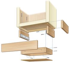 How to Build an Under-Cabinet Drawer (DIY) | Family Handyman Diy Kitchen Cabinets, Kitchen Drawers, Kitchen Redo, Wood Cabinets, Under Cabinet Drawers, Diy Drawers, Cabinet Doors, Cabinet Trim, Clever Kitchen Storage