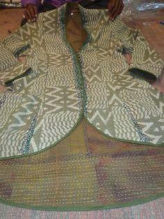 Womens Kantha Work Full Sleeve Cotton Jacket Boho Gypsy