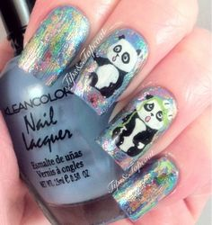 Tips and Topcoat: Tripping Panda Nail Art ;)