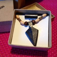 Survival fire starter arrow head design necklace by Brightonsparks on Etsy