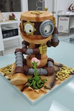 Cupcakes, Cupcake Cakes, Bolo Diy, Robot Cake, Gravity Cake, Cake Shapes, Sculpted Cakes, Character Cakes, Just Cakes