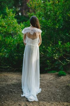 Ethereal Couture Hayez gown with a sheer bolero | Photo by Les Amis Photo
