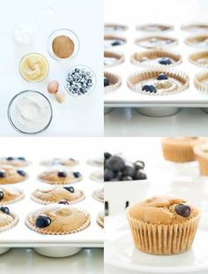 Healthy blueberry muffins, made with applesauce, yogurt, oats and big, beautiful fresh blueberries (or frozen!) and no added fat or refined sugars. All of the taste and texture, none of the guilt! Moist and tender, these insanely delicious muffins are only lightly sweet and positively bursting with the goodness of blueberries. They're super special right …