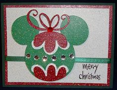Mickey Ornament Card also would look cute on Disney Christmas trip pics