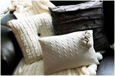 Sweater Pillow! finally a use for those sweaters i've shrunk!!!