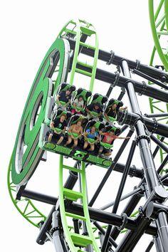 Green Lantern Coaster | Warner Bros. Movie World | Australia