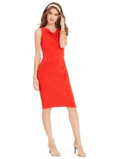 Cowlneck Jersey Dress - Lauren Short Dresses - RalphLauren.com