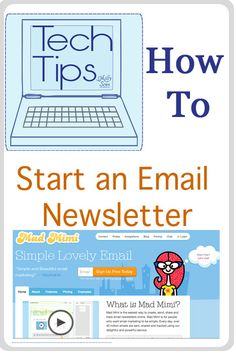 Tech Tips - How to Start an Email Newsletter - Melly Sews Westpark community newsletter?