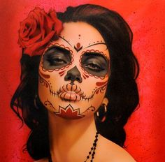 day of the dead makeup. hm. seems easy... seeeeemmmms.:
