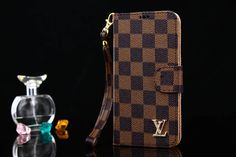 Louis Vuitton Galaxy S8 S8Plus Note8 Wallet Cover Coque coffee